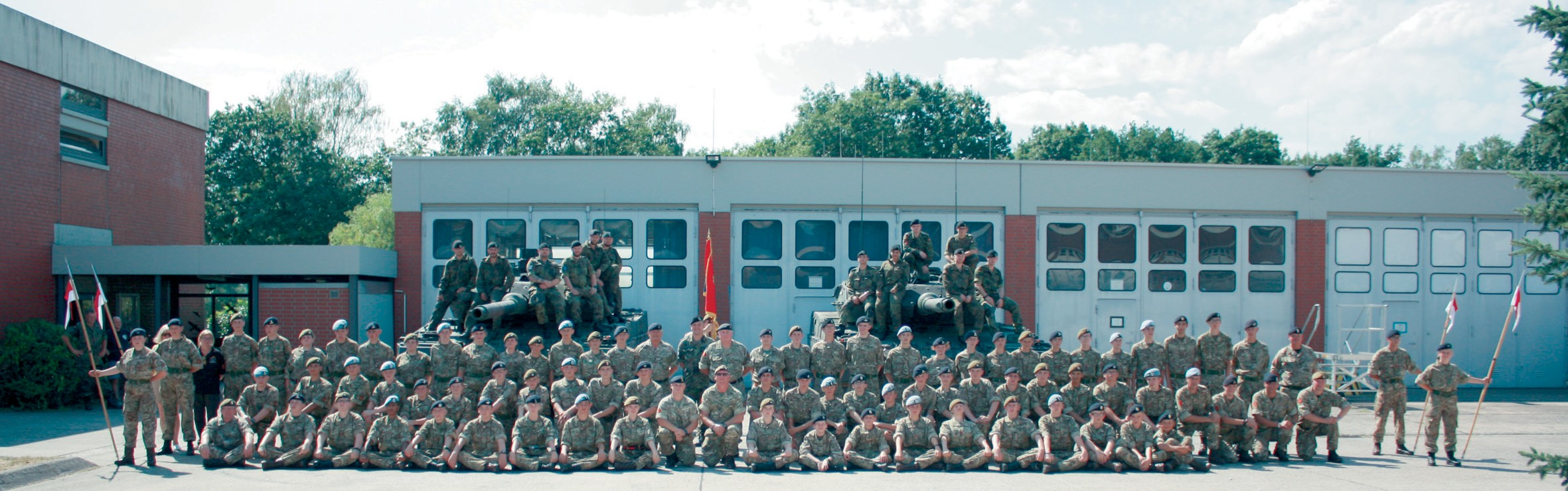 "Angehörige der ""Suffolk Army Cadet Force"" meets Hacketäuer"